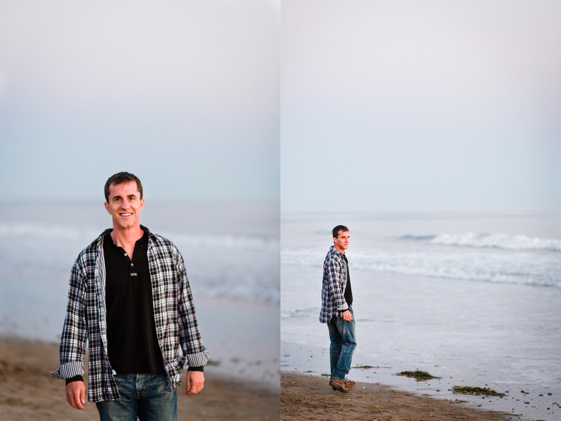 Portrait of a man at Goleta Beach in Santa Barbara.