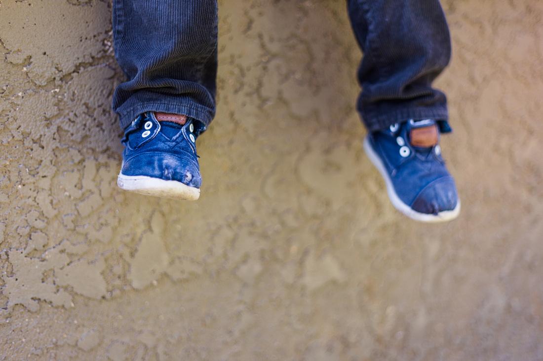 Little Boy's feet photographed by Alison Photography Santa Barbara.