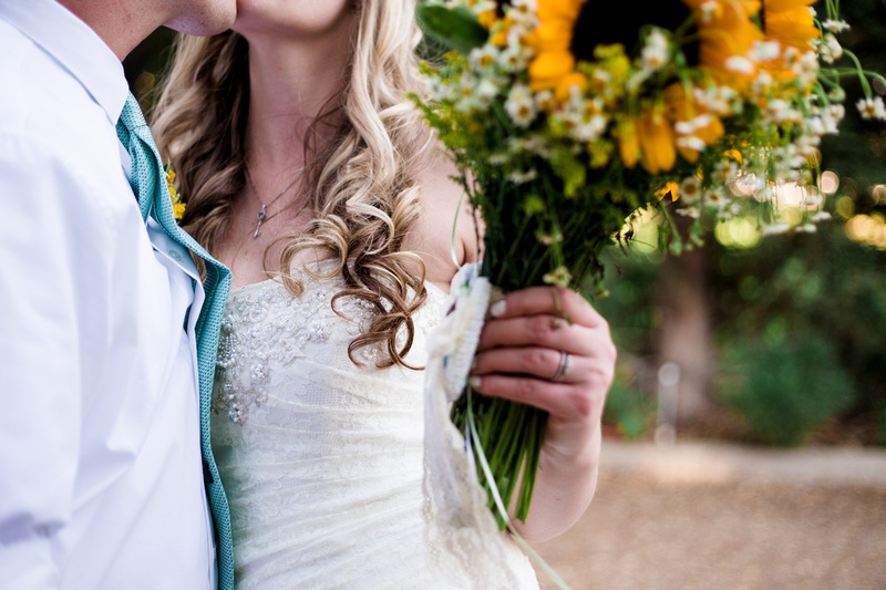 Grab shot during bride and groom formals at rustic chic Summer wedding in Ojai, California, shot by Alison Photography.