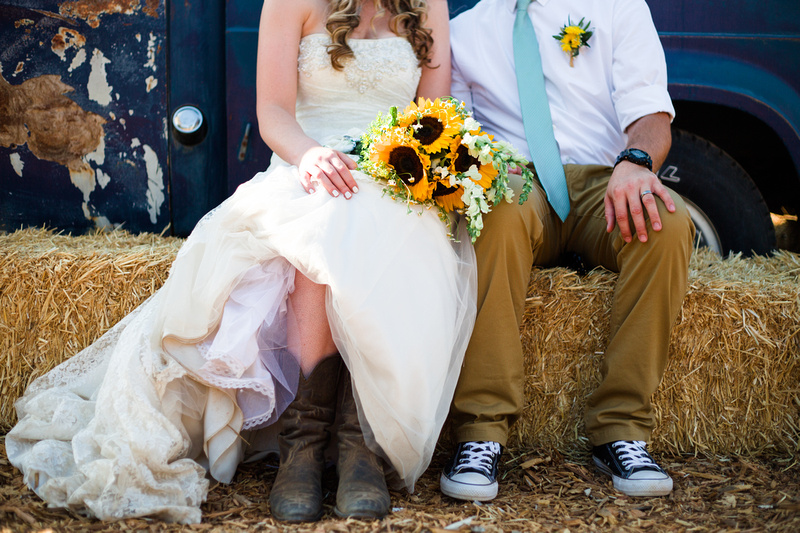 Rustic chic wedding in Ojai, California, shot by Teri Kramer Photography and Alison Photography