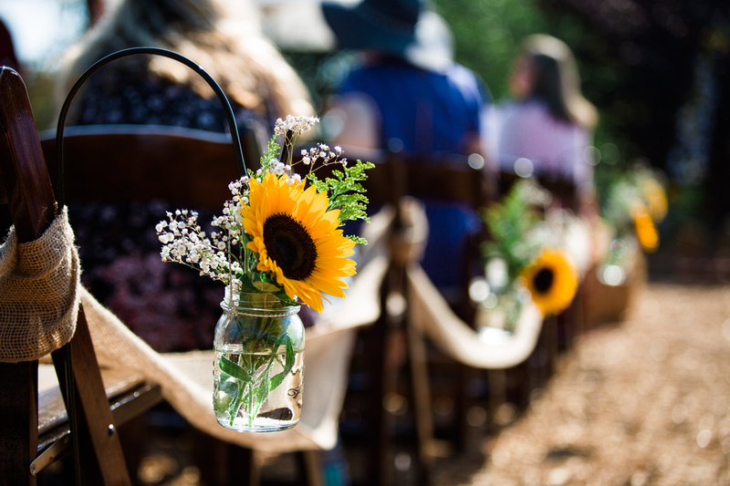 Rustic chic wedding ceremony in Ojai, California, shot by Alison Photography.