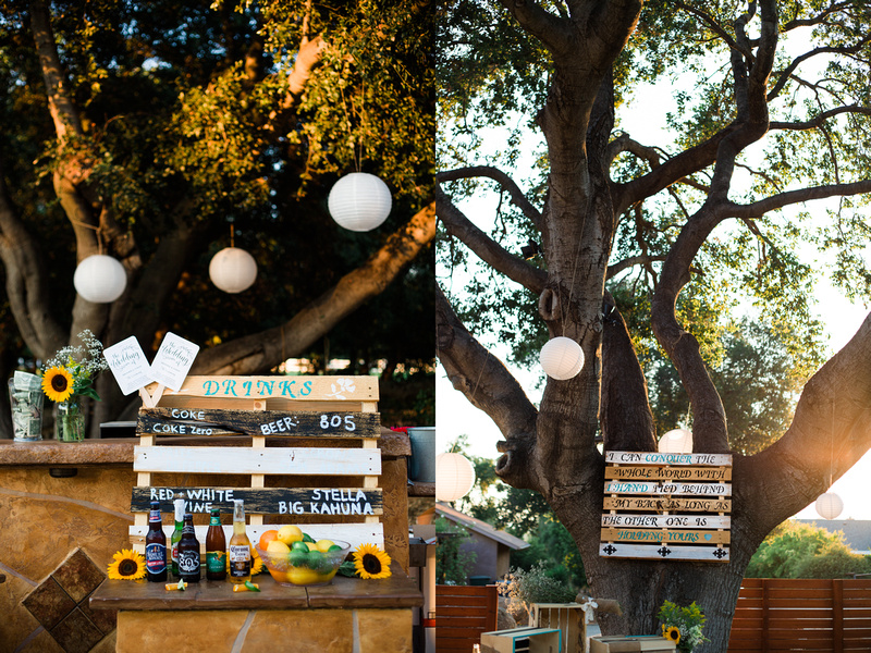 Details at rustic chic Summer wedding reception in Ojai, California, shot by Alison Photography.